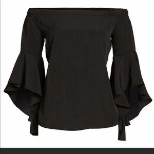 Chelsea28 Bell Sleeve Off Shoulder Blouse Top M